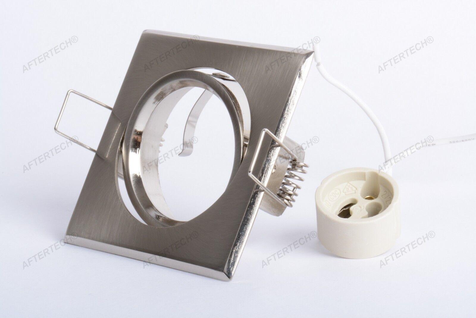 100x Halter Quadratisch Grünieft Stahl für Leuchten Scheinwerfer Gu10 220v D4a3