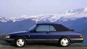 Image Is Loading Saab 900 Black Stayfast Convertible Top 1987 1994
