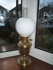 vintage-Hinks-Maple-Messengers-key-raising-oil-lamp-font-sits-in-brass-base-OL30