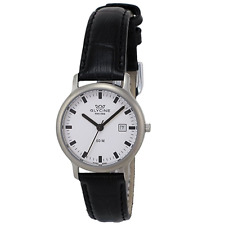 GLYCINE 3777.11.LB9-BLK Women's Black Genuine Leather White Dial Watch