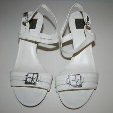 Calvin Klein White Mid Heel Shoes - Size 38.5 (UK 5.5)