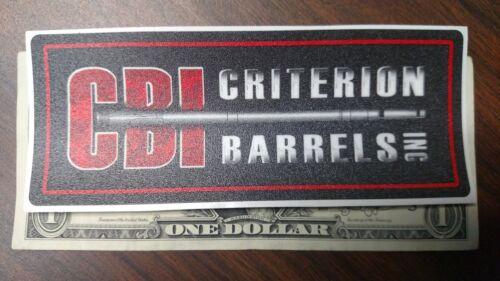 Criterion Barrels Inc CBI Sticker Tactical Gear Pistol Decal Stocks Guns