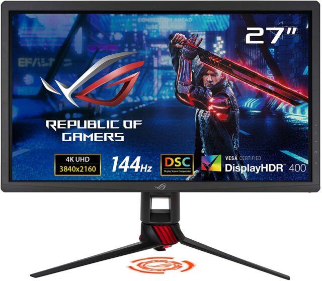 """ASUS ROG Strix 27"""" Gaming Monitor 4K (3840 x 2160) 144Hz XG27UQ Adaptive Sync"""