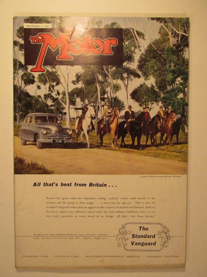 The Motor 5. November 1952, The Motor, emne: bil og motor