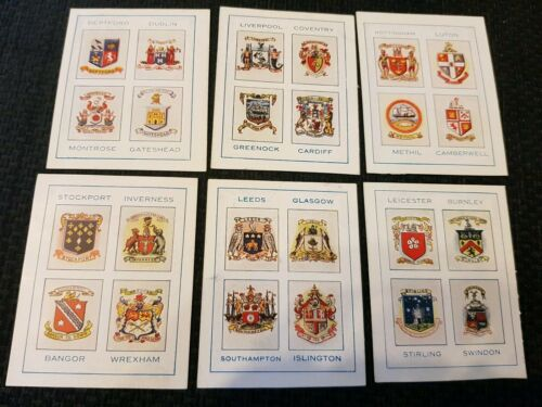 Thomson Football Towns and their Crests 1931 Complete Your Set Buy 2 & Save
