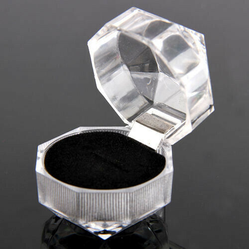 20pcs Noir Vente en Gros Mixte Cristal Plastique Lots Jewelry Ring Display Boxes Gift