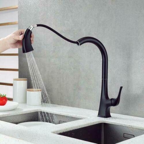 Details about  /LUXIER Kitchen Faucet Single Handle Pull Down Sprayer 180 Degree Spout Swivel