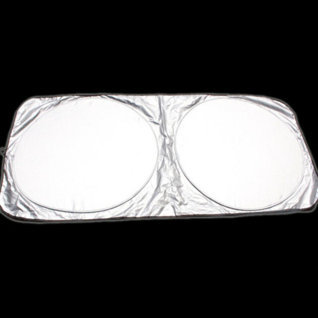 1PC Reflective Car Windscreen Sun Shade Foldable UV Blind Visor Protector Funny