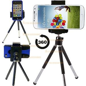 reputable site 410bd d6ea6 Details about For Apple iPhone 8 Plus Tripod Mini Stand Mobile Holder  Adjustable 360 angle