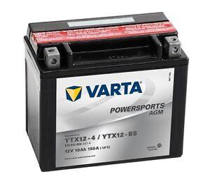 Varta-Powersports-AGM-YTX12-4-YTX12-BS-Motorradbatterie-8Ah-12V-510012009-NEU