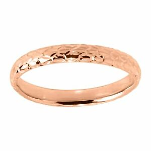 Eternity Gold Honeycomb Band Ring in 14K Gold