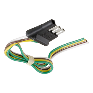 Curt-58030-4-WAY-FLAT-TRAILER-CONNECTOR-PLUG-WITH-12-034-WIRES-TRAILER-SIDE
