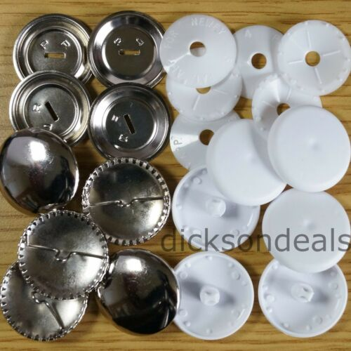Self Cover Buttons Metal /& Plastic 11mm 15mm 19mm 22mm 29mm