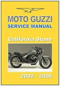 moto guzzi workshop manual california stone 2002 2003 2004 2005 rh ebay com moto guzzi california ev service manual moto guzzi california 1400 service manual download