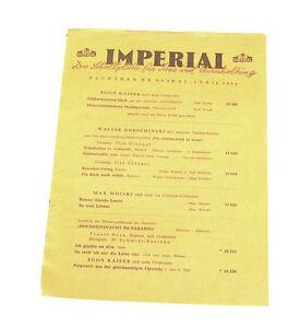 k127 Imperial Nachtrags Katalog Nr 5/6 Mai Juni 1952