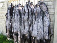 Neu Fuchspelz Fuchsfelle Silberfuchs Fuchs Fell Pelz Teller  Leder Fox Pelzkrage
