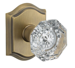Baldwin Reserve FD.CRY.TAR Crystal Dummy Knob Set w//Traditional Arched Rosette
