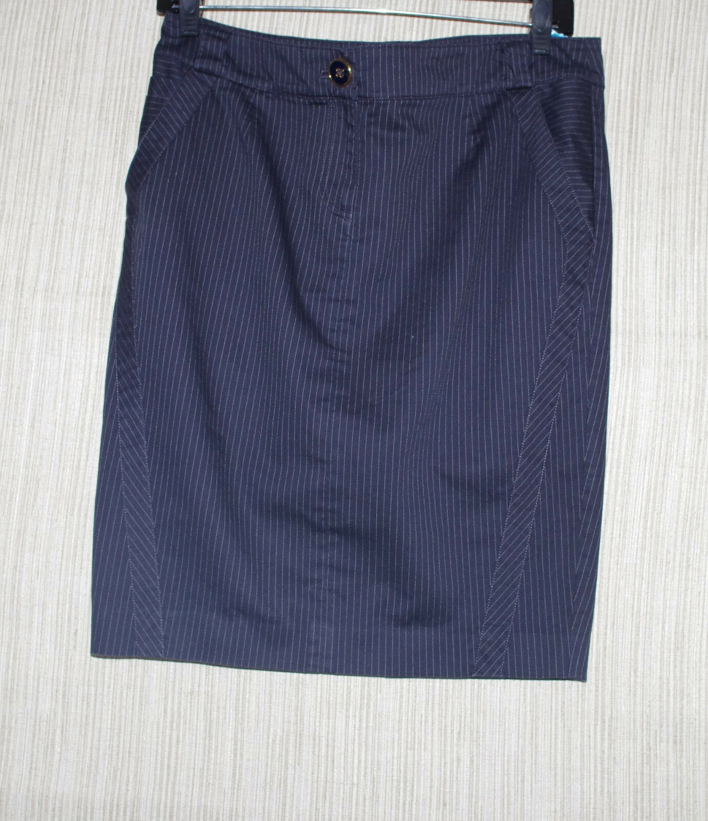 Marciano Cotton Blend bluee Stripe Pencil Skirt Size 6