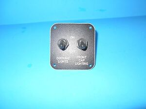 *KIB DOCKING LIGHTS FRONT CAP LIGHT ON/OFF DUAL TOGGLE SWITCH