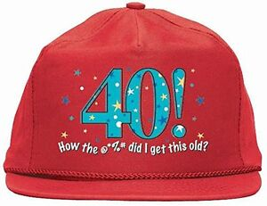 ddb67c210db Image is loading 40th-Birthday-Baseball-Cap-NEW-251963