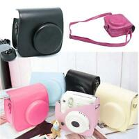 Hot Vintage Leather Camera Case Bags Skin Cover For Fujifilm Instax Mini8 Mini8s