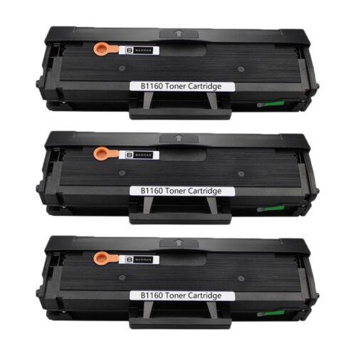 3 pcs B1160 Compatible Toner Cartridge High Yield for B1163w B1165nfw Printer