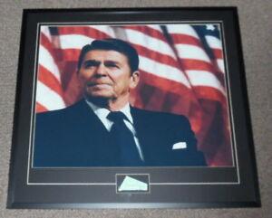 Ronald-Reagan-Signed-Framed-31x34-Photo-Poster-Display-JSA-LOA