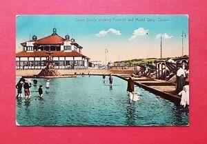 AK-DURBAN-Suedafrika-um-1910-Strand-Ocean-Beach-38614