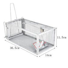 One Door Animal Trap Steel Cage for Small Live Rodent Control Rat Mice SquirrelM
