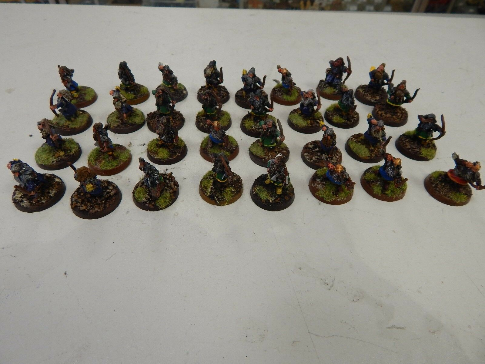 Games Workshop Lord of The Rings painted Dwarven Archers x 32 metal figures