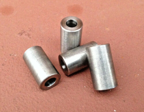 """4 pcs 1//2/"""" OD Stainless Steel Unthreaded Spacers for 1//4/"""" Screw 3//4/"""" Long"""