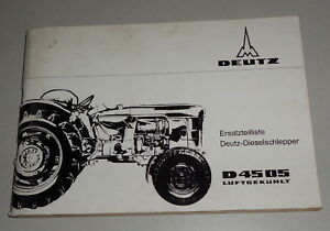 Parts Catalog/spare Parts List Deutz Dieselschlepper D 4505 Air Cooled Farming & Agriculture Industrial