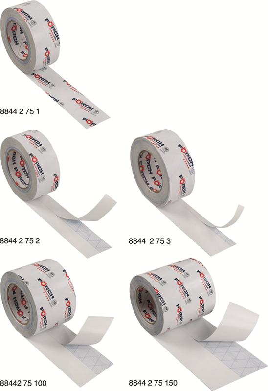 Systemklebeband Klimastar 60, 100, 150mm geteiltes Silikonpapier