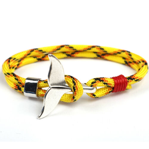 1PC Nautical Survival Rope Whale Tail Ankle Wrist Bracelet Jewelry for Couples