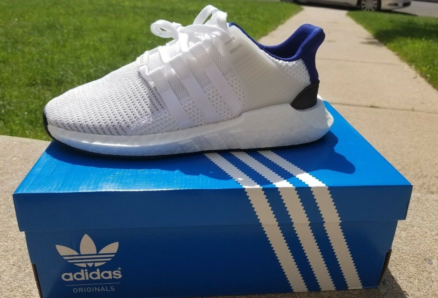 Adidas EQT 93/17 Mens Size 9 (Deadstock) Color: White and Royal