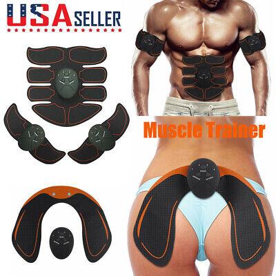 1 Set Electric Abdominal Arm Muscle Stimulator Toner Belt Smart Buttock Trainer
