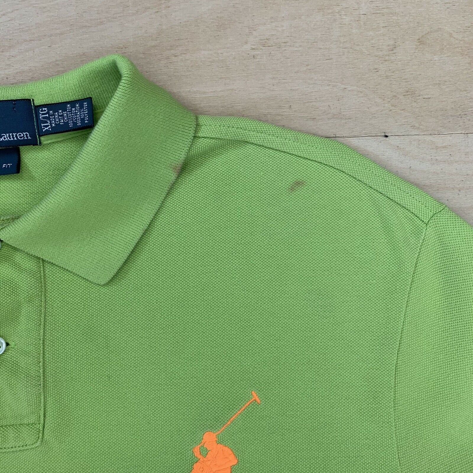 Vintage Polo Ralph Lauren France Rugby Shirt XL G… - image 3