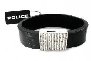 POLICE Leder Band Armband Edelstahl SIXPACK PJ22653BLS.01.19 /> /> NEU