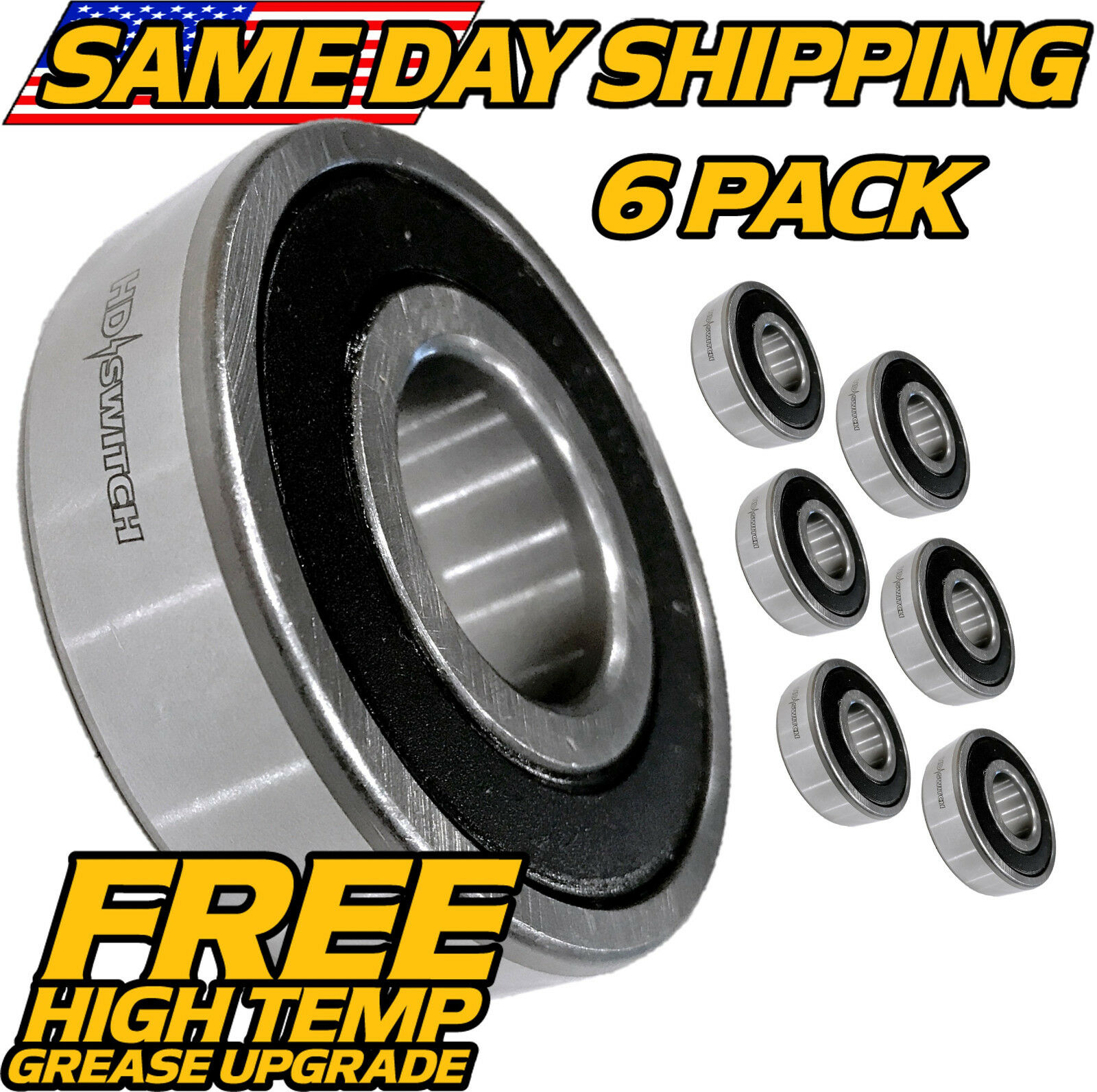 6 Pack Country Clipper Lawn Mower Spindle Bearing C-28971 ZSKL