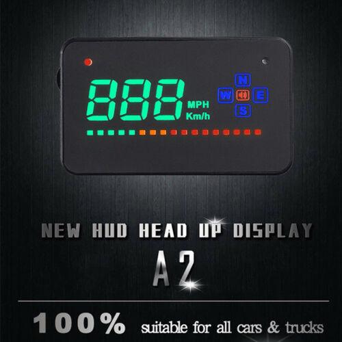 GPS Speedometer HUD Head Up Display Car Overspeed Tired Warning Accesser BHO