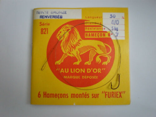 AMI LEGATI CON FILO IN ACCAIO AU LION D/'OR TIED SNELLED HOOKS WITH STEEL LINE