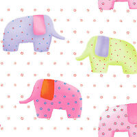 """SOFT COTTON BEDDING DRESS CLOTHES FABRIC CUTE ELEPHANT BISCUTE ALLOVER GREEN 44"""""""