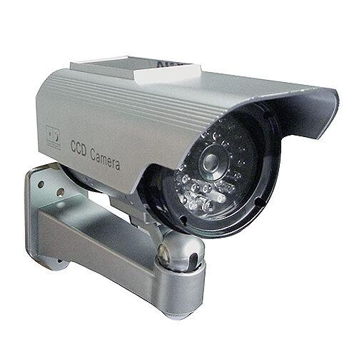 Factice Faux Caméra Surveillance de Sécurité à Energie Solaire à LED Imitation
