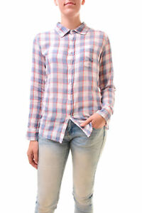 Size Bcf77 Us1 Rrp Sleeve Shirt Sundry Long Basic Checked Plaid £120 Women's RxpUq0
