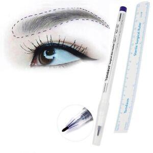 Skin-Marker-Vorzeichenstift-Lineal-Microblading-Permanent-makeup-Tattoos