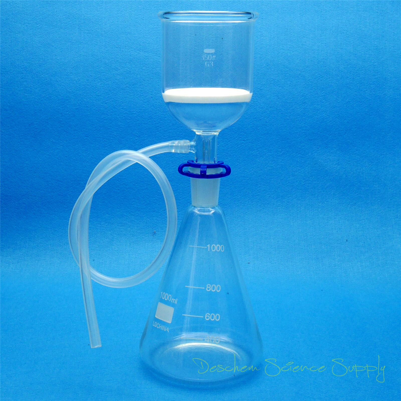1000ml,Glass Suction Filter Kit,350ml Buchner Funnel & 1 Lit
