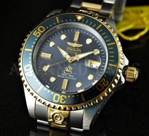 Invicta-300m-Grand-Diver-Auto-Ltd-Ed-DIAMOND-Charcoal-Dial-Two-Tone-SS-Watch-NEW
