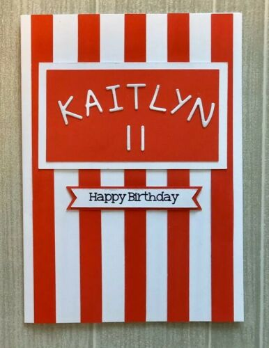 Red /& White ANY NAME//COLOUR Handmade Personalised Sunderland Card