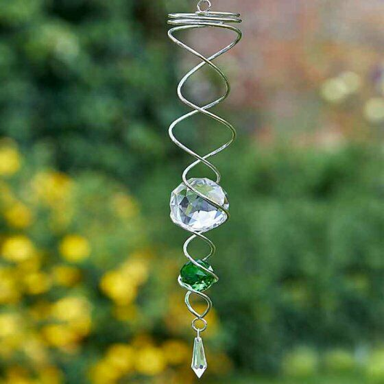 Green Spinning Double Helix Smart Garden For Indoor & Outdoor Use Glass Crystal