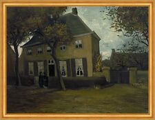 The vicarage at Nuenen Vincent van Gogh Pfarrhaus Kirche Garten Bäume B A2 03356